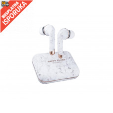 Happy Plugs Air 1 PLUS In Ear- White Marble