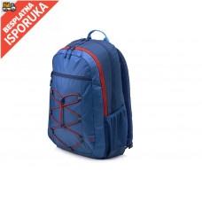 HP ranac 39.62 cm (15.6) Active Backpack (Marine Blue/Coral Red) (1MR61AA)