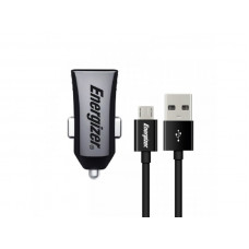 Energizer CAR CHARGER 1A  +MicroUSB Cable Black