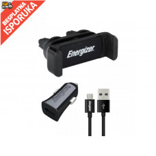 Energizer CAR KIT 1A Clipped  +MicroUSB Cable Black