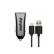 Energizer UL CAR CHARGER 3.4A 2USB BK +TYPE C2.0 Cable