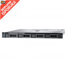 DELL PowerEdge R340 Xeon E-2278G 8C 1x16GB H330 1x600GB SAS 350W (1+1) 3yr NBD + Sine za Rack + Broadcom 5719 QP 1GbE