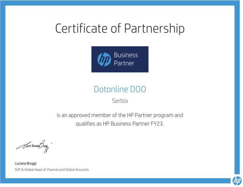 HP serfitikovani partner